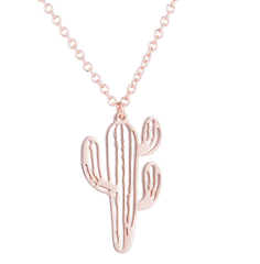 Cactus Necklace Silver Chain