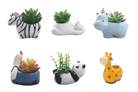 Cute Animal Shaped Succulent Planter For Home Decoration