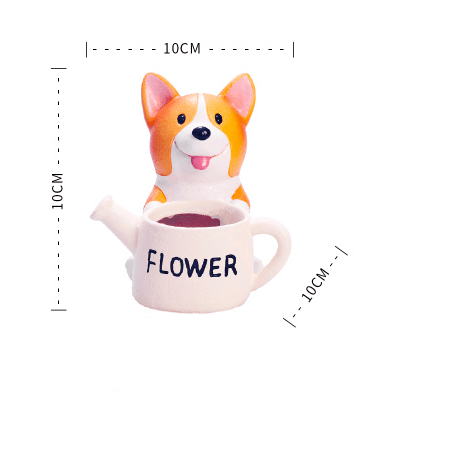 Cute Dog Ceramic Succulent Plant Pot Holder