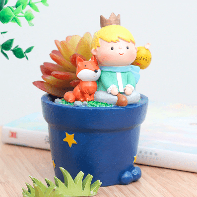 Garden Little Prince Creative Succulent Plants Decorative Flower Pot