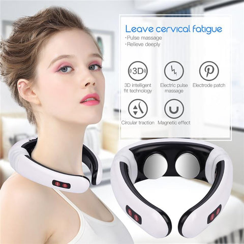 Intelligent 3D Electric Pulse Neck Massager Cervical Vertebra Impulse Massage Magnetic Therapy