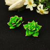 Image of Green Succulent Plant Earrings