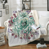 Image of Green Succulents Throw Blanket