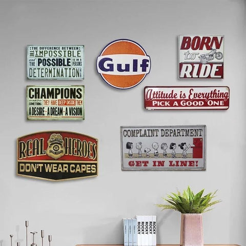 AMERICAN STYLE Vintage Wall Decor Retro Metal Art Poster