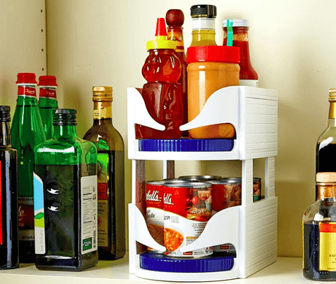 Rotating Kitchen Storage Shelf