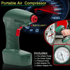 Image of New Handheld Portable Air Compressor Tire Inflator Pump