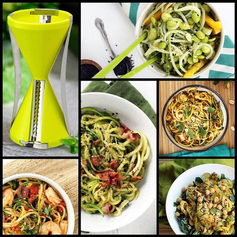 Hourglass Shaped Spiral Vegetable Slicer