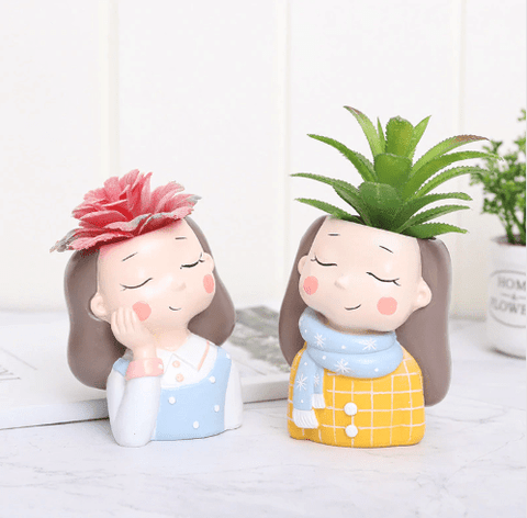 Plant Lady Succulent Planter Pot