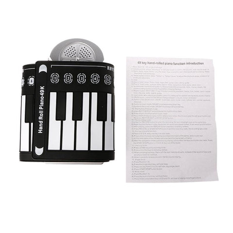 Silicone Piano Keyboard With Roll Up 49 Keys