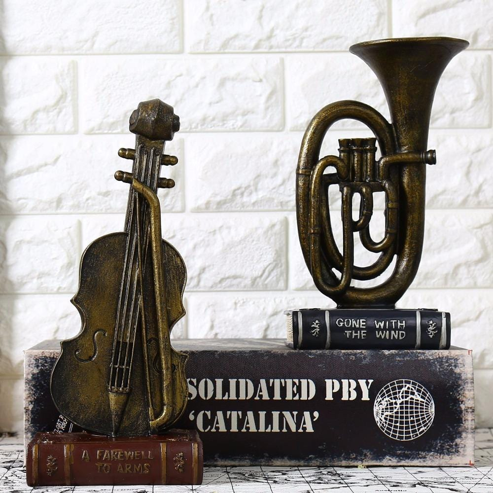 Shopping For Home Decor: Music Coffee Décor Crafts Violin Saxophone Model