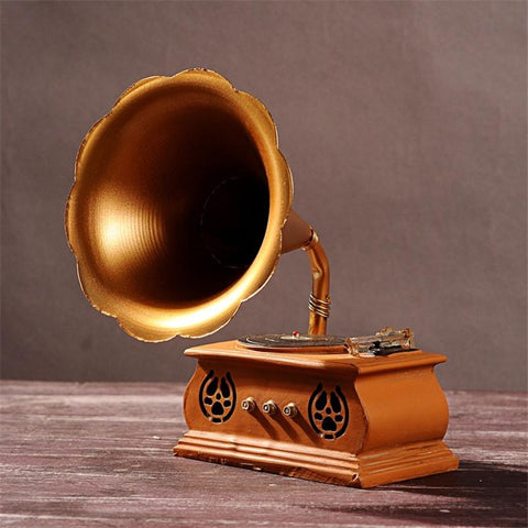 Retro Gramophone Model 3D Craft Vintage