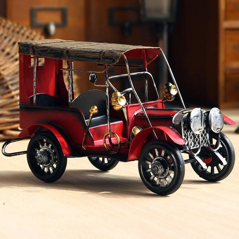 Antique Car Model Coffee Décor Vintage Retro Crafts