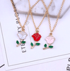 Image of Cute Potted Succulent Cactus Pendant Necklace