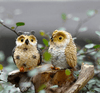 Image of Cute Owls Figurines Garden Ornament Decoration