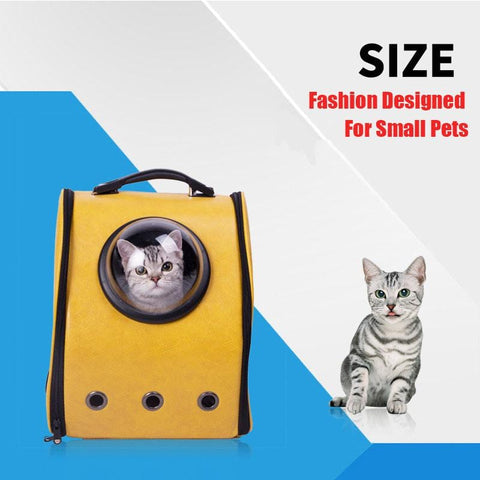 Space Cabin Pet Carrier Breathable Travel Backpack