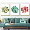 Image of Succulent Cactus Canvas Painting