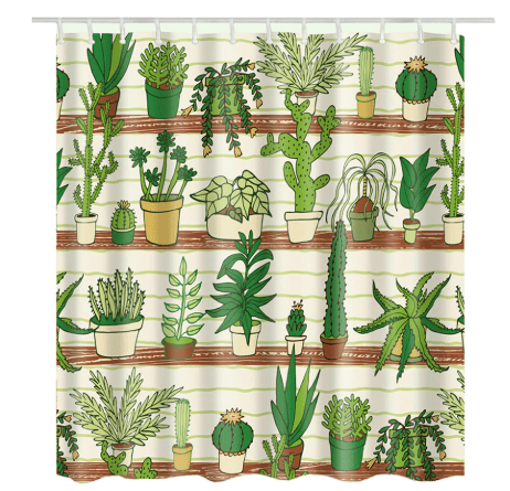 Succulent Flowers Shower Curtains