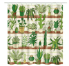 Image of Succulent Flowers Shower Curtains