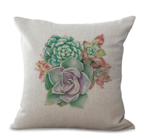 Succulent Throw Pillow Cushion Covers
