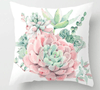 Image of Succulents Plants Painted Throw Pillow Cushion Covers