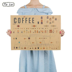 Stylist Coffee Espresso Cafe Decorative Wall Poster