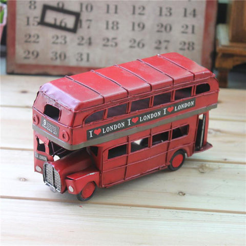 Antique Bus Model Coffee Décor Vintage Bus