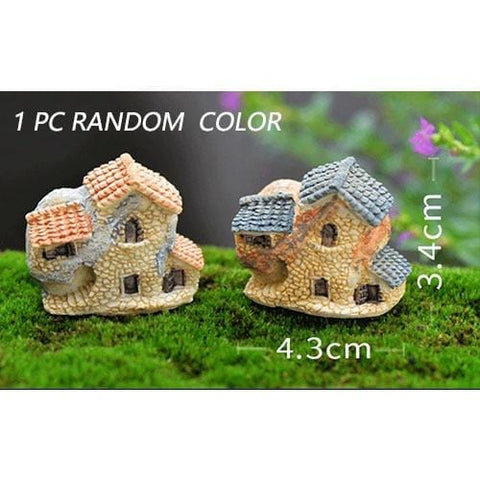 Mini Small House Cottages Garden Ornament Landscape Decor