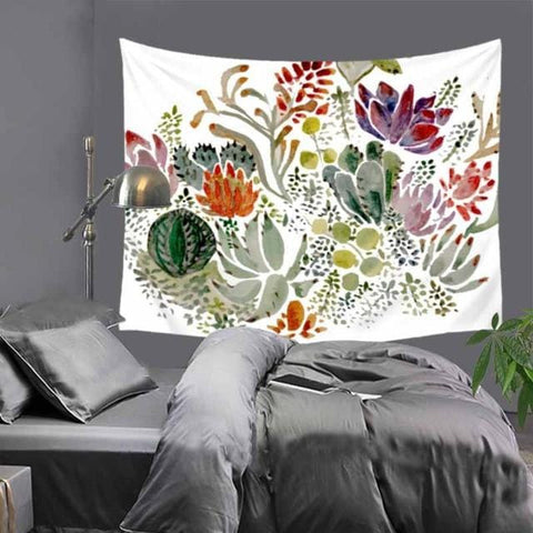 Mandala Wall Hanging Cactus Succulent Tapestry For Home