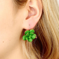 Green Succulent Plant Earrings