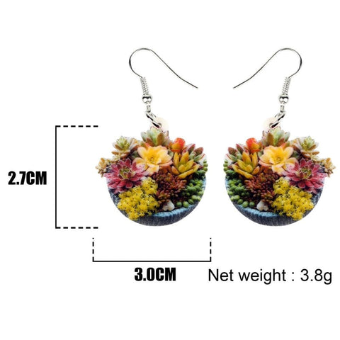 Succulent Plant Bonsai Earrings