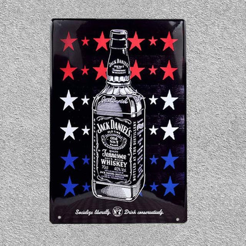 Retro Brands Metal Poster Wall Art Painting Plaque