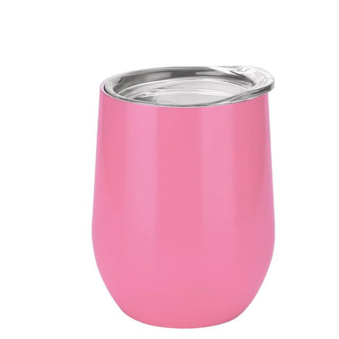 12 oz Double-insulated Stemless Glass Tumbler Cup with Lid