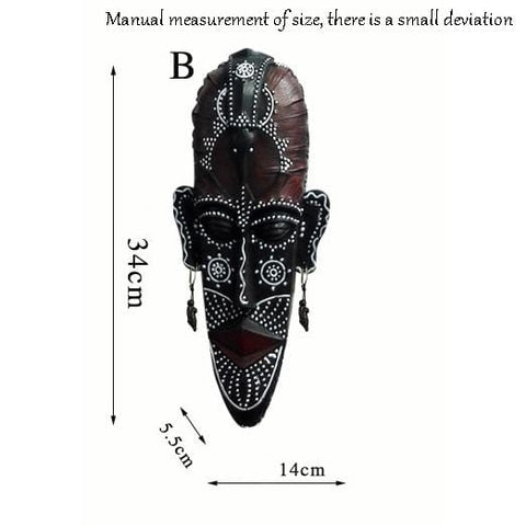 African Tribal Face Masks Wall