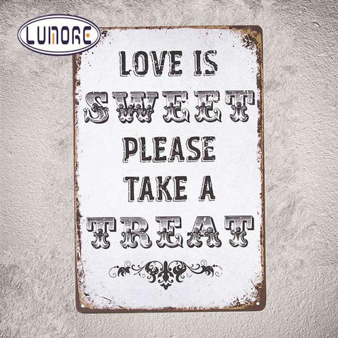 Metal Tin Sign Vintage Plate For Pub Bar Restaurant Cafe Wall Stickers
