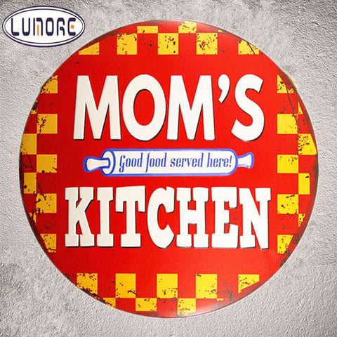 Metal Tin Plaque - Wall Decoration