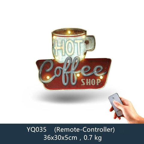 Remote Controlled LED Neon Signs For Cafes, Bars, Restaurants