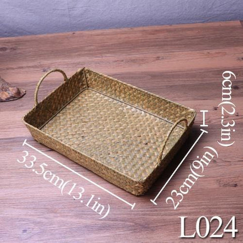 Straw Woven Storage Basket - Resort & Cafe Decor