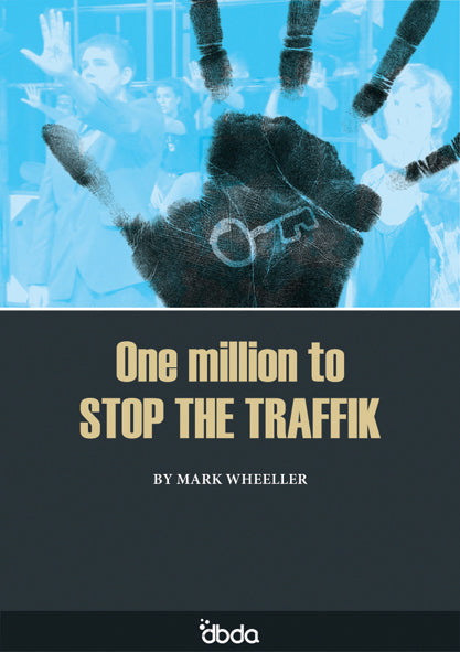 Front cover of One million to Stop the Traffik Script by Mark Wheeller, showing a hand print