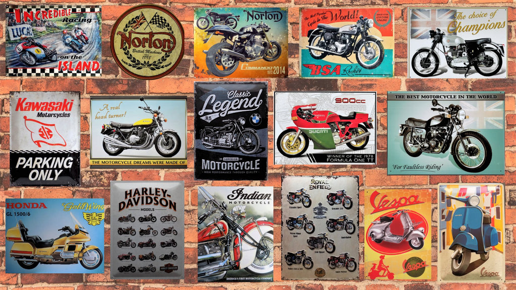 PLAQUES METAL  MOTOS SCOOTERS