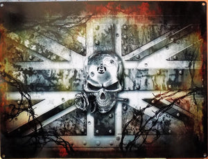 PLAQUE METAL alchemy SKULL gothic IRON KINGDOM UK - TOFMOBILE