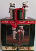 COCA COLA stocking holder ours polaire