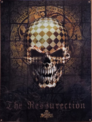 PLAQUE METAL alchemy skull THE RESSURECTION - TOFMOBILE