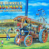 plaque métal vintage BURRELL SHOWMAN LOCOMOTIVE - TOFMOBILE