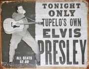 PLAQUE METAL style vintage ELVIS PRESLEY tupelo's own - TOFMOBILE