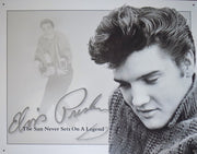 PLAQUE METAL style vintage ELVIS PRESLEY sun never sets - TOFMOBILE