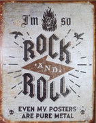 PLAQUE METAL style vintage ROCK AND ROLL - TOFMOBILE