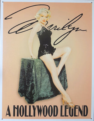 PLAQUE METAL  vintage MARILYN MONROE hollywood - TOFMOBILE