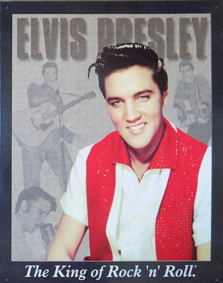 PLAQUE METAL style vintage ELVIS PRESLEY king of rock'n'roll - TOFMOBILE