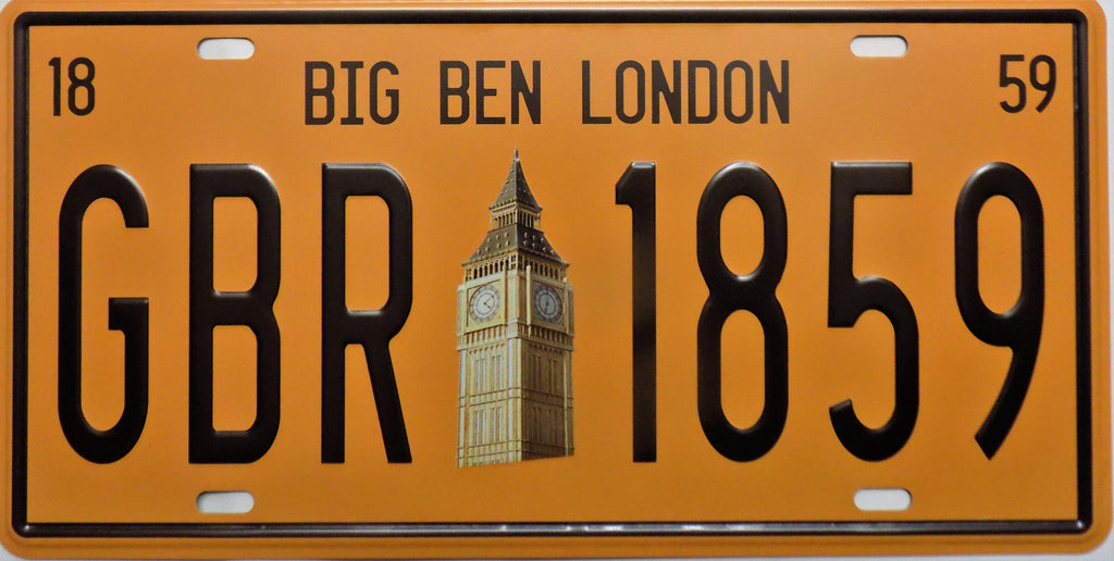plaque métal vintage BIG BEN LONDON - TOFMOBILE