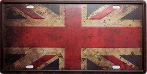 plaque métal vintage UK FLAG drapeau UNION JACK  30 x 15 cm - TOFMOBILE